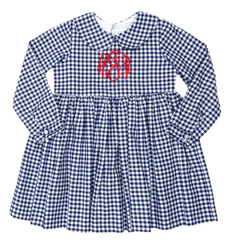 School Blue Paisley Check Dress