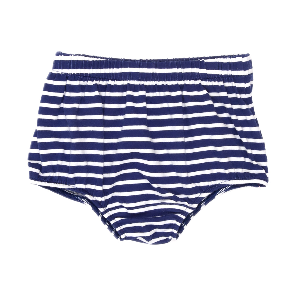 School Blue Heidi Stripe Diaper Cover