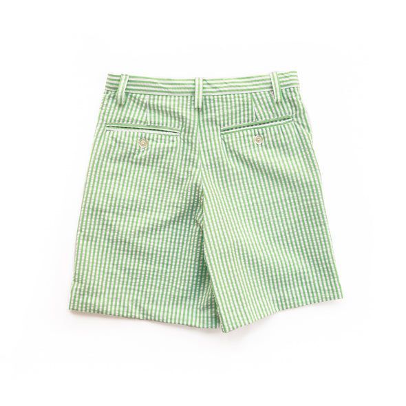Green Seersucker Samuel Shorts