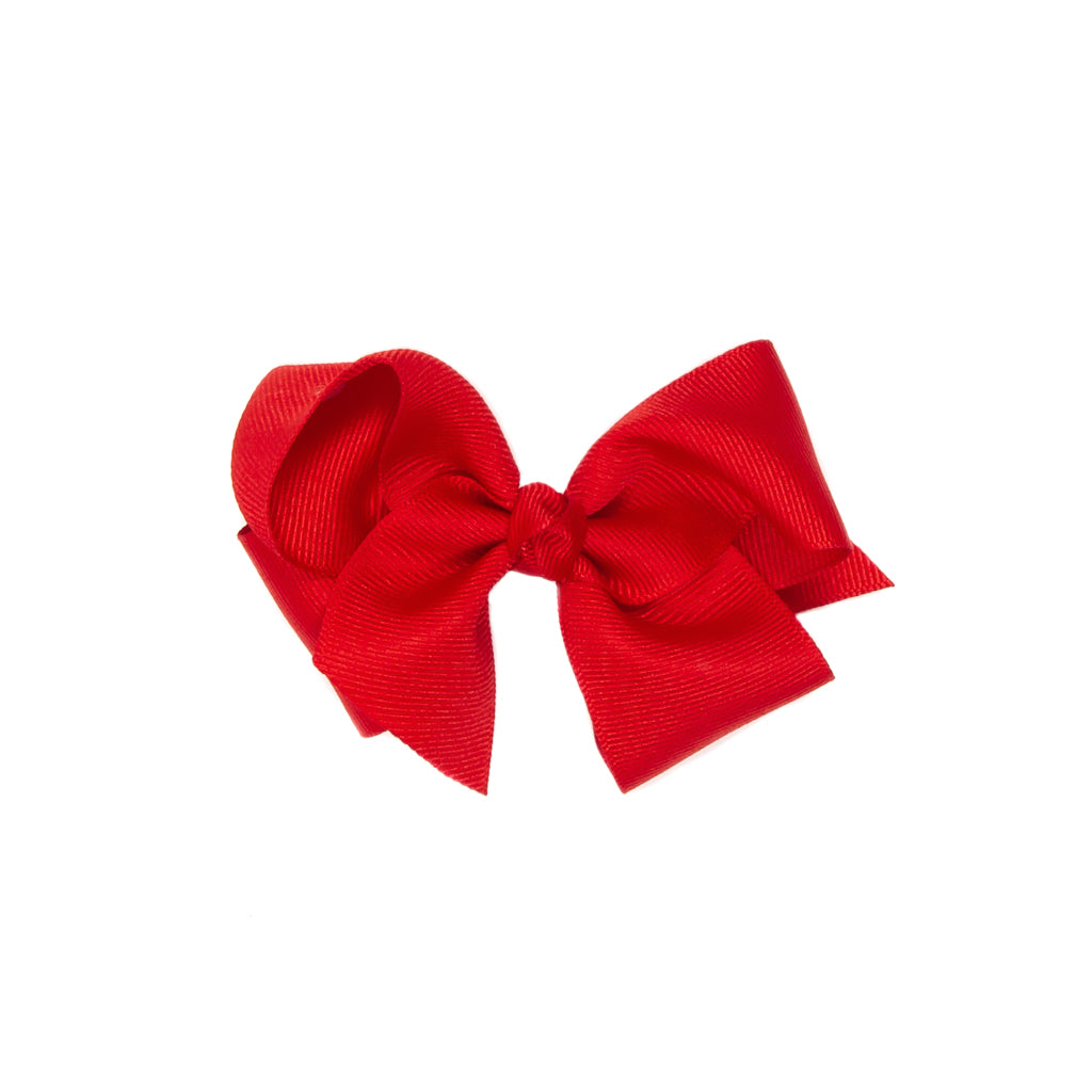 Strawberry Picnic Medium Red Classic Bow