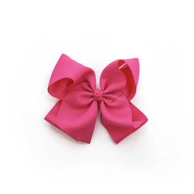 Large Raspberry Rose Classic Bow