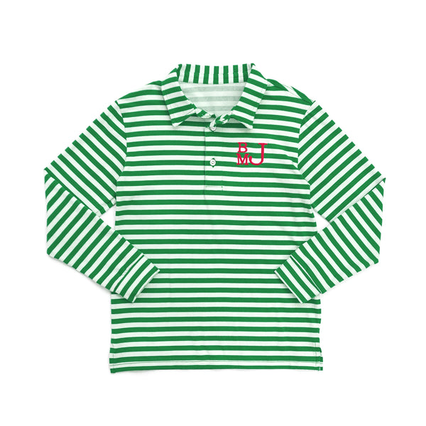 Green Stripe Jackson Polo
