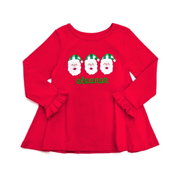 Santa Applique Emmy Top