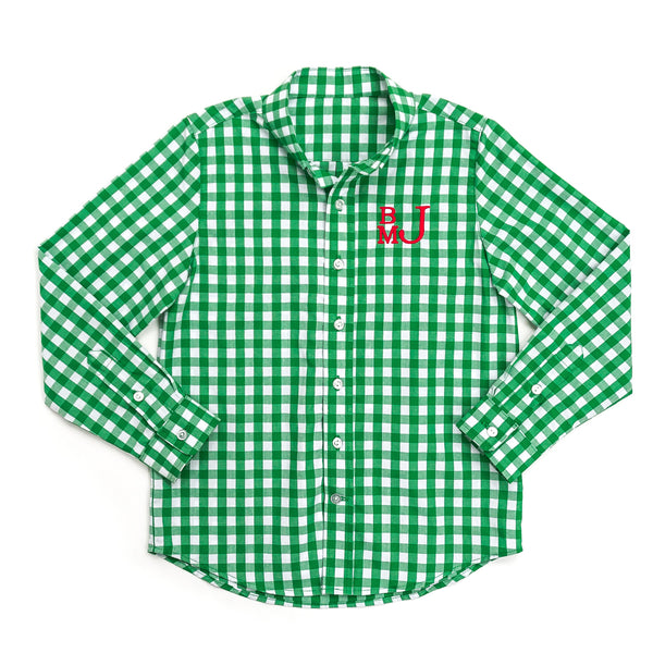 Green Check James Button Down