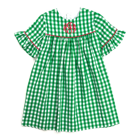 Green Check Savannah Dress