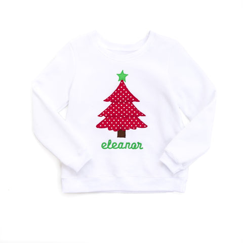 Christmas Tree Applique Darby Sweatshirt
