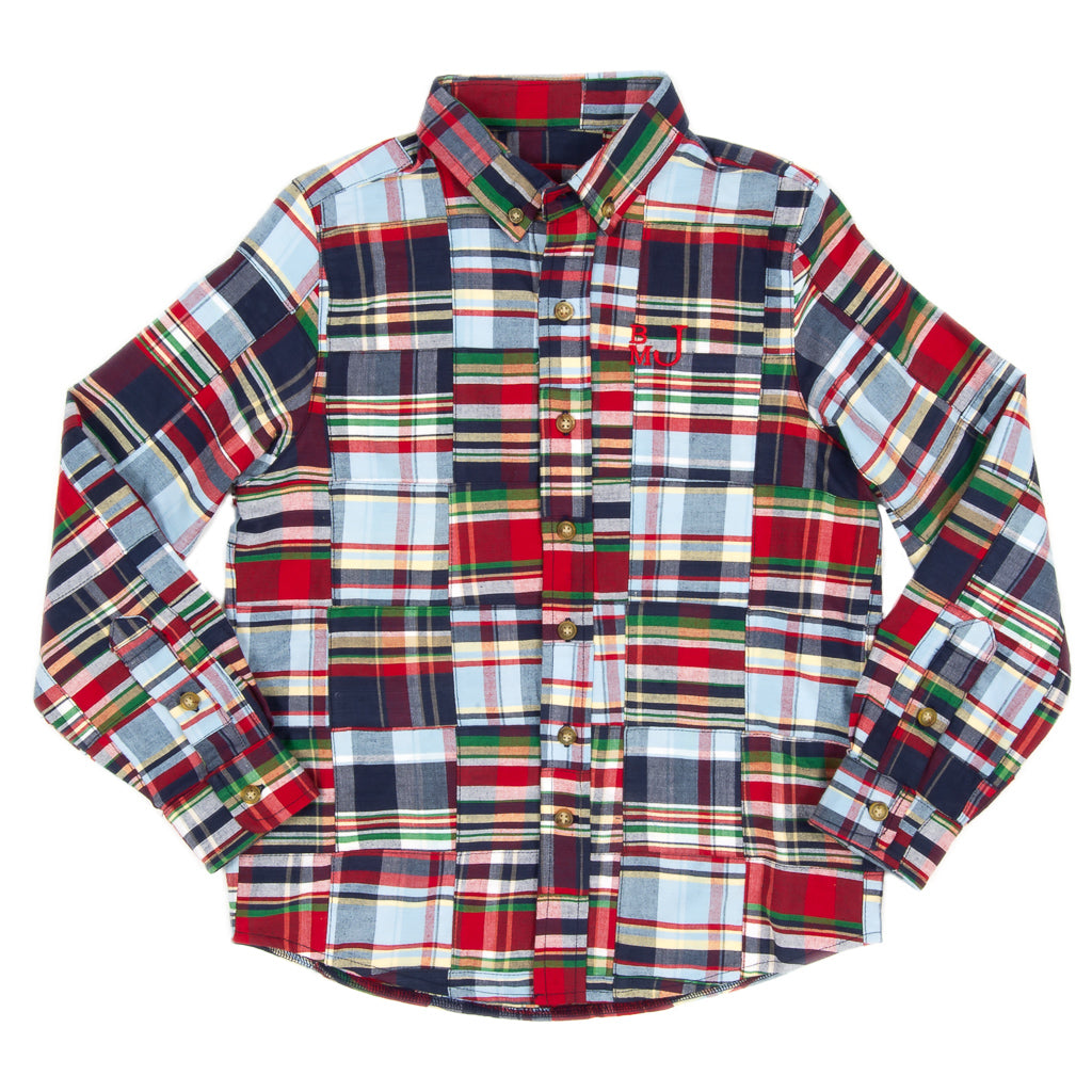 Perfect Patchwork James Button Down Shirt