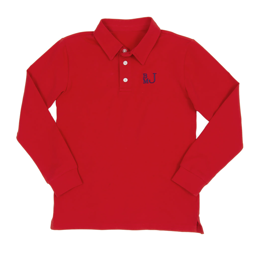 School Blue Jackson Red Polo