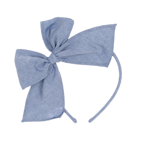 Classroom Chambray and Stripes Bea Headband