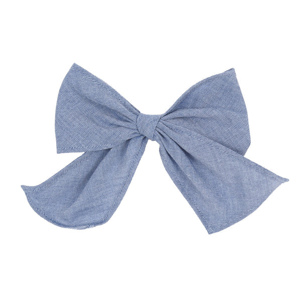 Classroom Chambray and Stripes Sonni Bow