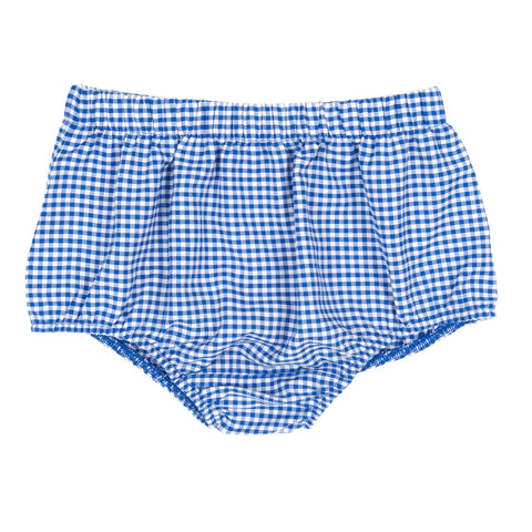 Royal Blue Check Heidi Diaper Cover