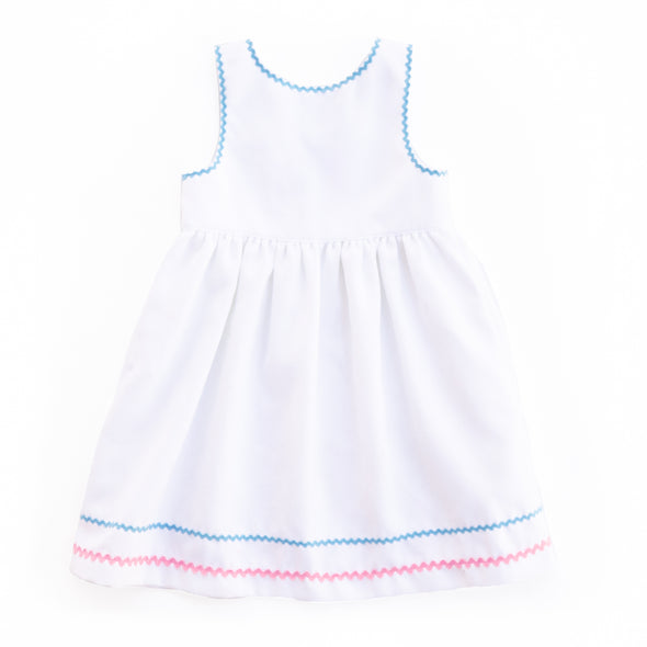 White Pique Rosemary Dress
