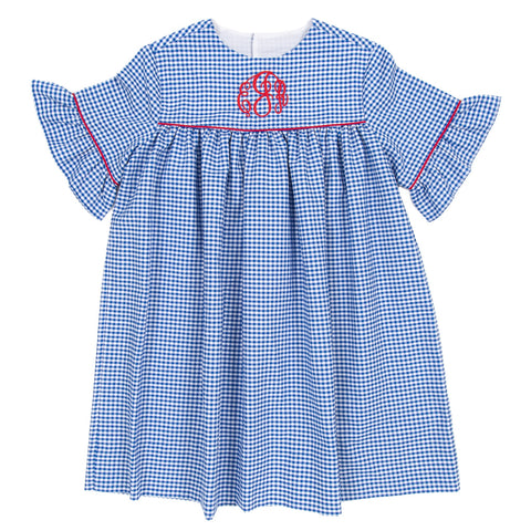 Royal Blue Check Savannah Dress