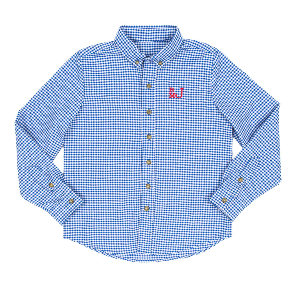 Royal Blue Check James Button Down