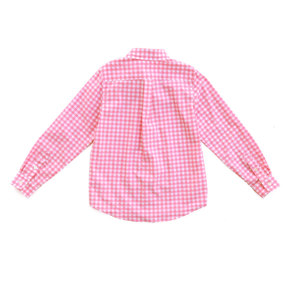 Precious Pink Check James Button Down