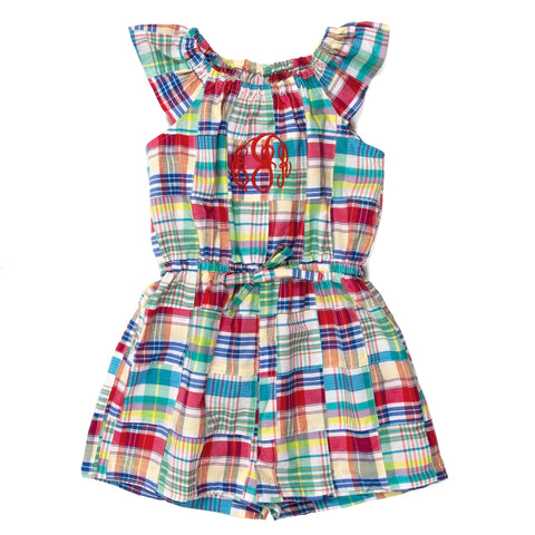 Nautical Patchwork Nettie Romper