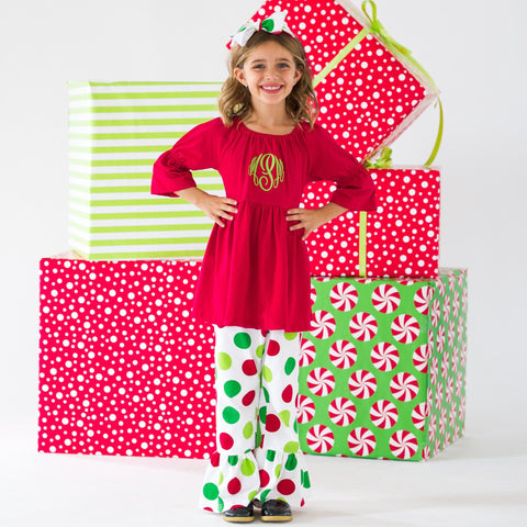 Santa Dots Robyn Top