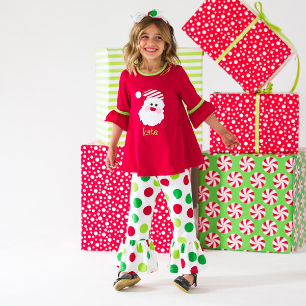 Santa Dots Riley Top