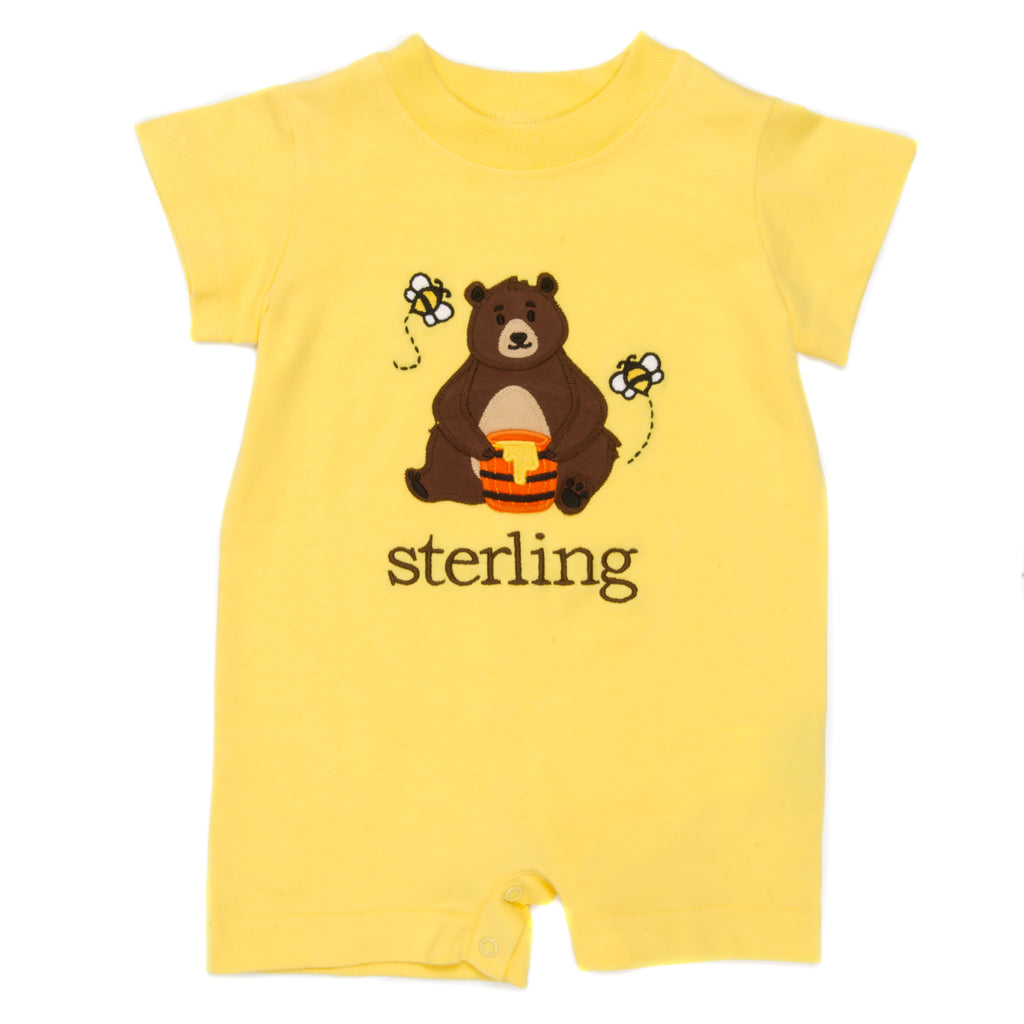 Honey Bees Tyler Applique Yellow Romper