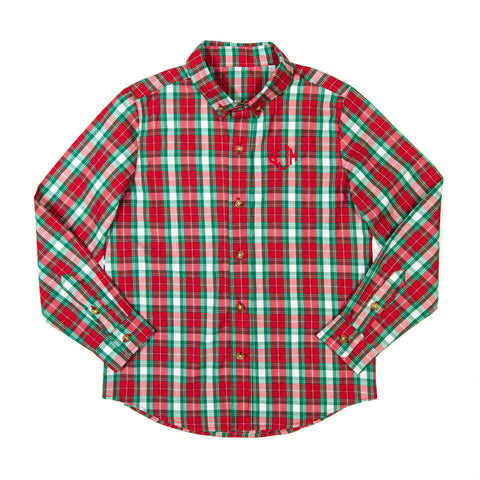 Christmas Plaid James Button Down
