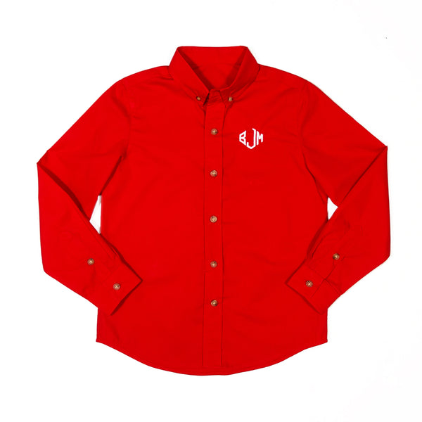 Red Toile James Long Sleeve Shirt