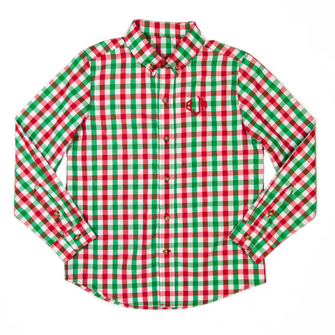 Christmas Card Check James Button Down