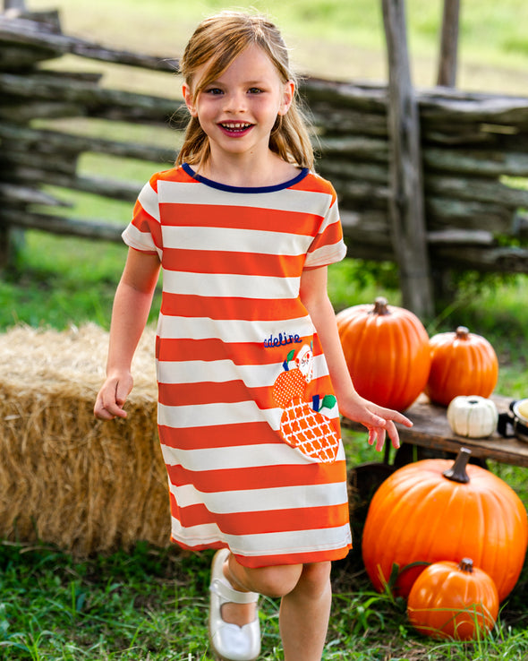 Applique Pumpkin Mariah Dress