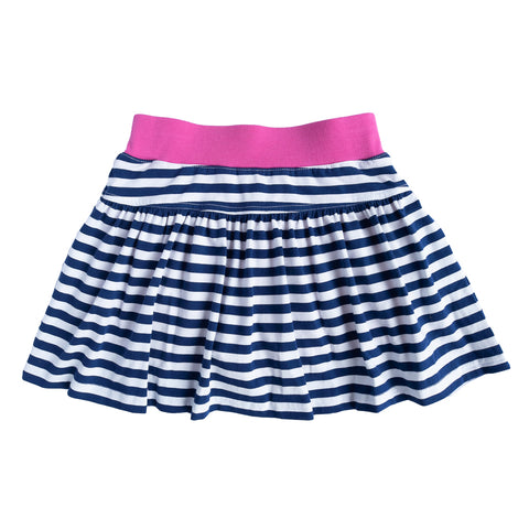 Navy Stripe Patty Skort