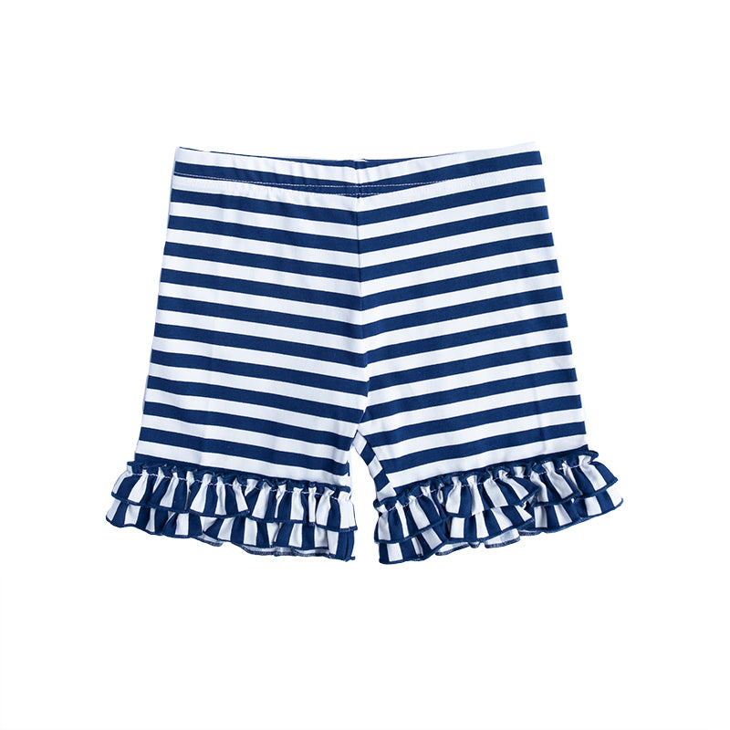 Navy Stripe Brailey Shorts