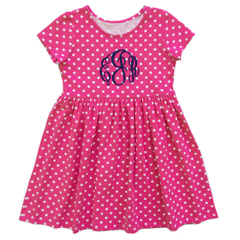 Playful All Knit Cora Pink Dot Dress