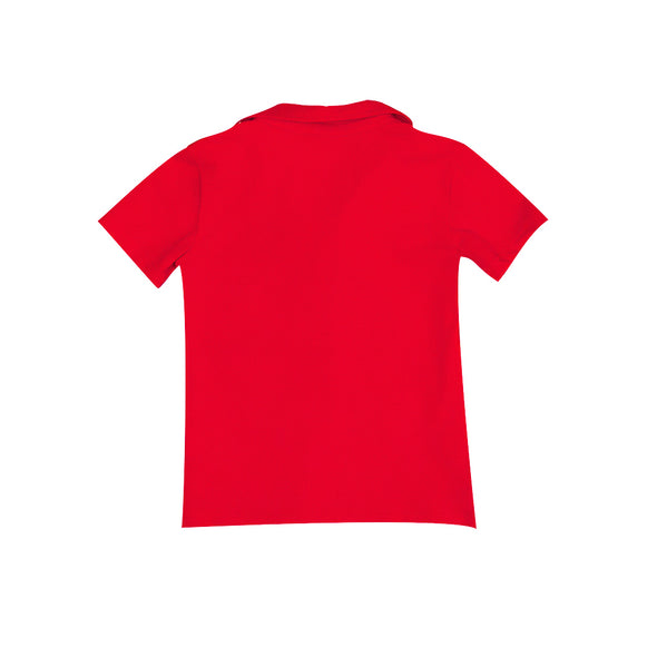 Red Knit Connor Polo