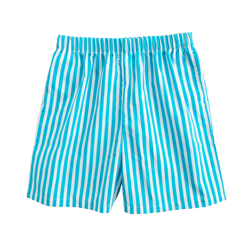 Turq Stripe Mason Short