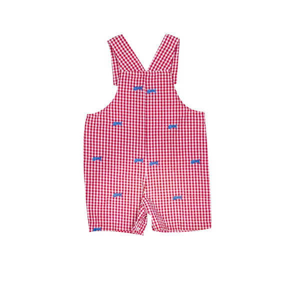 Red Seersucker Sterling Shortall