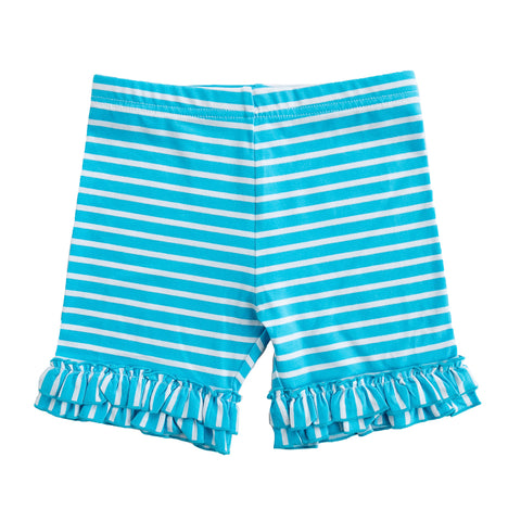 Turq Stripe Brailey Shorts