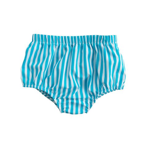 Turq Stripe Heidi Diaper Cover