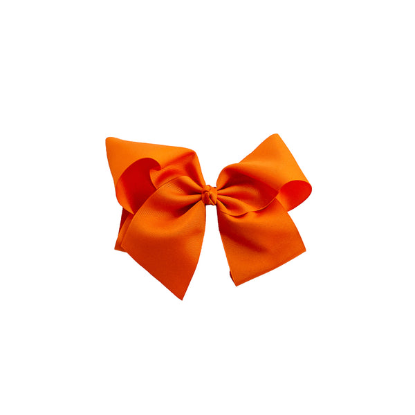 Large Orange Classic Bow