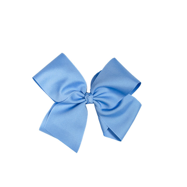 Spring Floral Large Blue Classic Bow