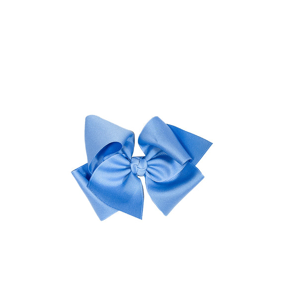 Spring Floral Medium Blue Classic Bow