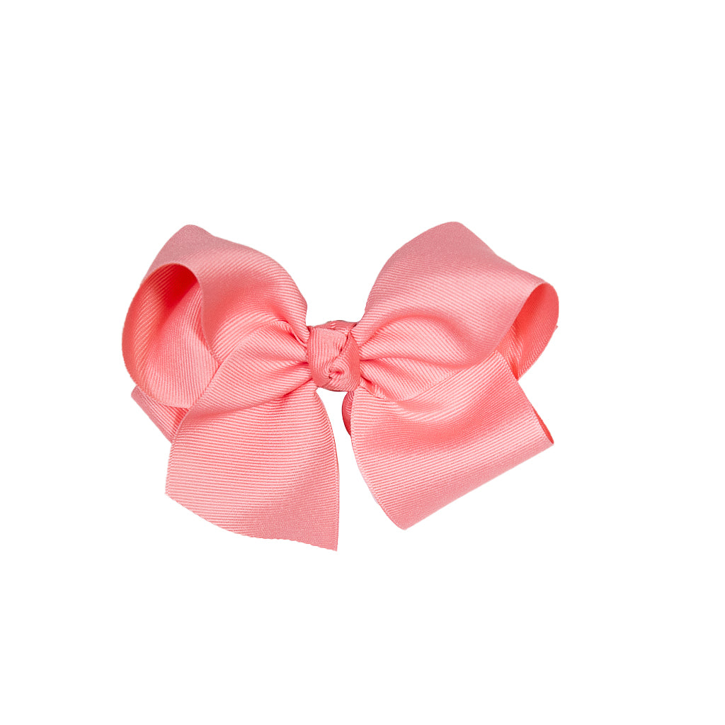 Country Club Coral Medium Classic Bow