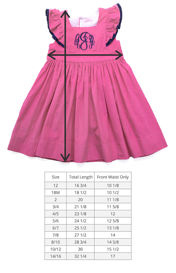 Pink Corduroy Catalina Dress