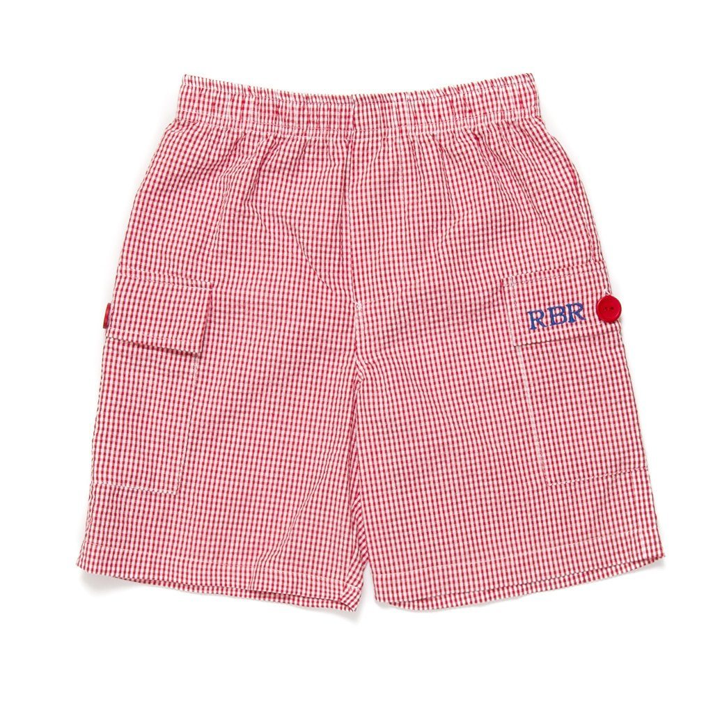 Patriotic Picnic Red Check William Shorts