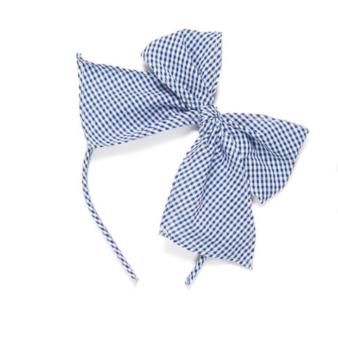 Patriotic Picnic Blue Check Bea Headband