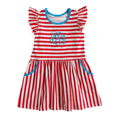 Red Stripe Janie Dress