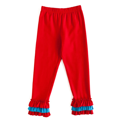 Red Raven Ruffle Knit Pant
