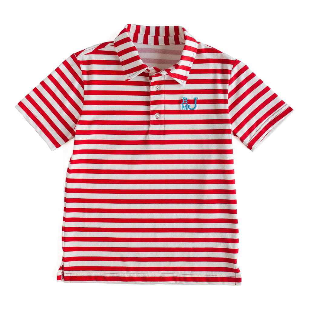 Red Stripe Connor Polo