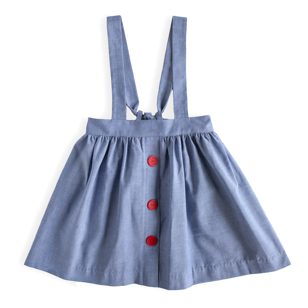 Chambray Sydney Suspender Skirt
