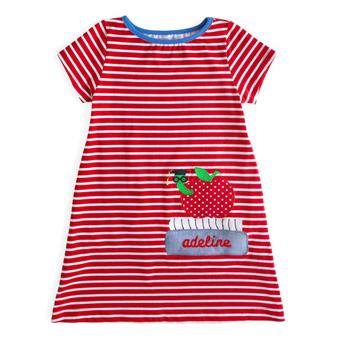 Stripe Applique Mariah Dress