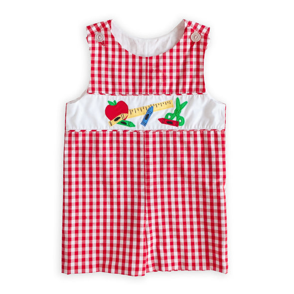 Gingham Applique Classic John John
