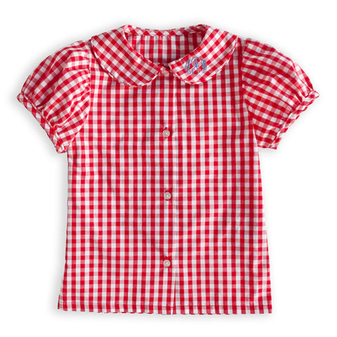 Gingham Esther Top