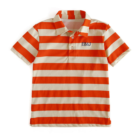Orange Stripe Connor Polo